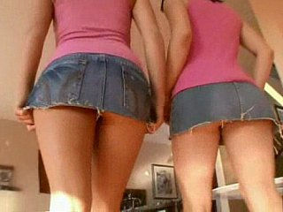 Cute lesbian teens receive their sweet holes pounded
