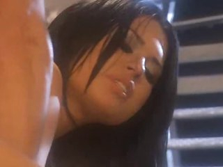 Shaved curvy girl receives fucked hard